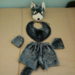 The costume of a wolf or a dog