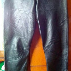 TROUSERS-LEATHER COMBINED TROUSERS