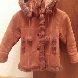 Kızlar için koyun derisi ceket