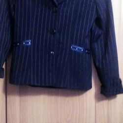 A jacket for school. Dark blue.
