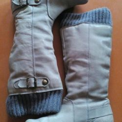 Demi-season gray boots of 39 r-ra