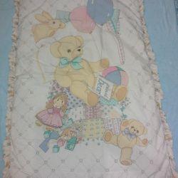 Battaniyeler, battaniyeler. yatak pedi, yastık