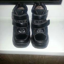 Kışlık deri çocuk ayakkabısı Antilop 30