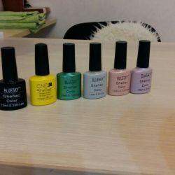 Gel polish. More than 30 colors.