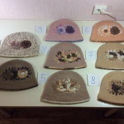 Ексклюзивні в'язані капелюшки ручної роботи