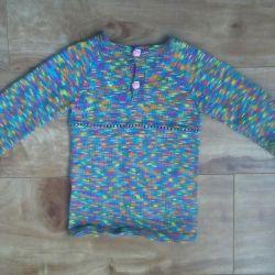 New woolen tunic for a girl handmade