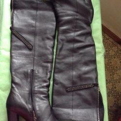Νέες μπότες. Φυσικό δέρμα