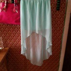 Asymmetric skirt with train