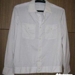 shirt white gray police militia size 48 50
