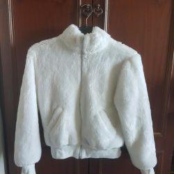 Artificial fur coat.