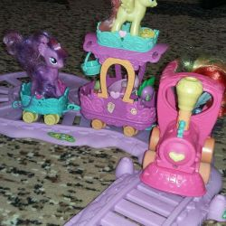 The train with the train My Little Pony