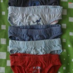 Panties for 1-3 years, new and used