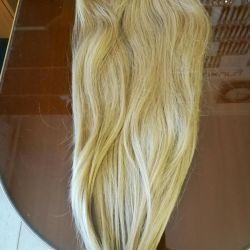 Overlay on hair, on hairpins.