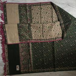 Plaid scarf stole yak wool Tibet