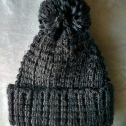Шапка с пумпоном женская тeплая на зиму