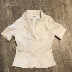 Ceket beyaz kısa kollu