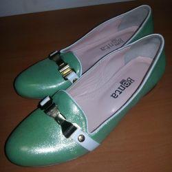 Παπούτσια μπαλέτου κομψό nat δέρμα 37r Τουρκία
