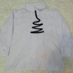 80 - 86 - 92'lik bir jabotlu çocuk bluzu