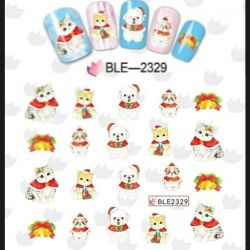 Stickers on nails 11pcs