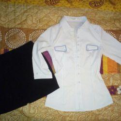 Tricou și fustă (dimensiune 42-44)