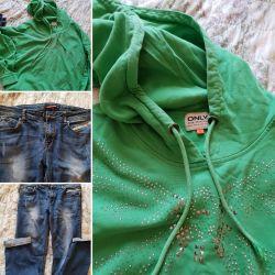Jeans și Hoody pentru o fată
