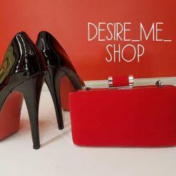 Κόκκινο μικροσκοπικό συμπλέκτη / τσάντα