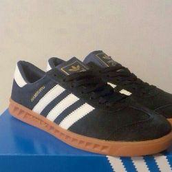 Кроссовки мужские Adidas Hamburg темно-синие