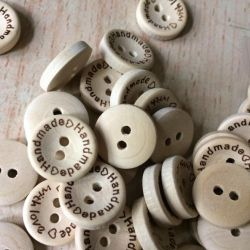 Wooden buttons Hand Made small