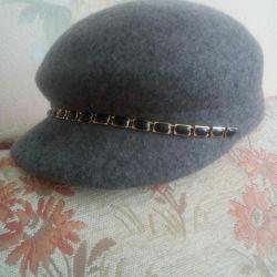 Cap hat women's wool