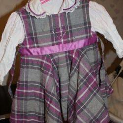 Детский Комплект Сарафан + Рубашка 86