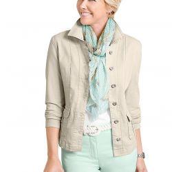 New light beige blazer stretch 56 size