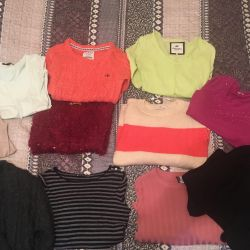 New sweaters and blouses