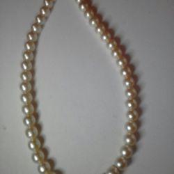 Noi perle de sticlă topită de 45 cm (nu din material plastic)