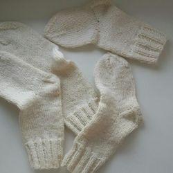 Knitted new handmade socks