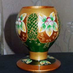 Vase-glass for dried flowers