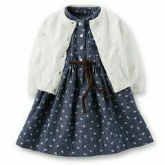 New kit carters 24m dress + cardigan + panties