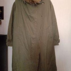 Coat demi-season new on fleece size 50