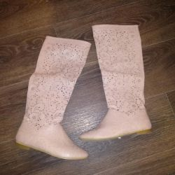 Perforated pink boots 39 р-р