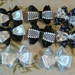 Bows for hair for 2 pcs