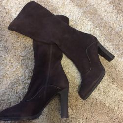 Suede boots, new Italy, p 37