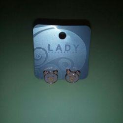Earrings Carnations children's new