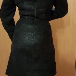 Natural sheepskin coat (italy)