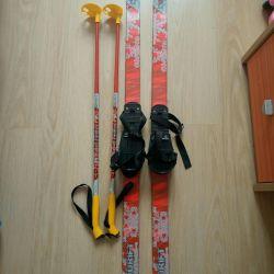 Set of children's skis