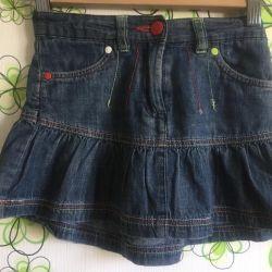 Denim skirt, corduroy, skirt-shorts