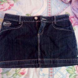 Skirt. Jeans