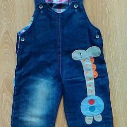 Комбенизон джинсовый детский