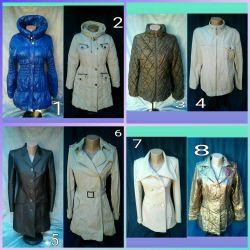 Ceketler, ceketler, yağmurluklar, paltolar.