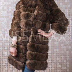 Fur coat transformer from arctic fox