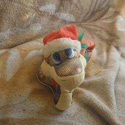 Игрушка мягкая Змея новогодняя с сумкой