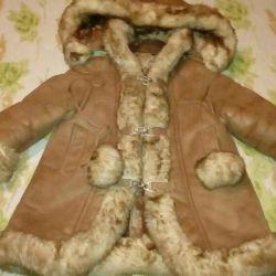 Sheepskin coat for girls